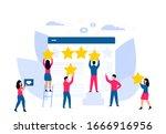 customer feedback. online...   Shutterstock .eps vector #1666916956