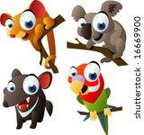 vector animal set 66 ... | Shutterstock .eps vector #16669900