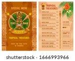 template for menu of tiki bar... | Shutterstock .eps vector #1666993966