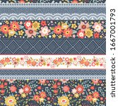 seamless pattern with...   Shutterstock .eps vector #1667001793