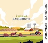 agriculture and farming.... | Shutterstock .eps vector #1667003389