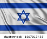 waving color flag. silk texure. ...   Shutterstock . vector #1667013436