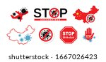 stop coronavirus concept icons. ... | Shutterstock .eps vector #1667026423