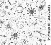seamless space pattern. can be... | Shutterstock .eps vector #166702658