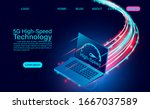 5g high speed technology... | Shutterstock .eps vector #1667037589