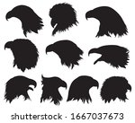eagle head silhouette  eagle... | Shutterstock .eps vector #1667037673