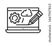 web design line icon  concept...