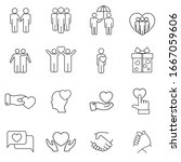 friendship and friend icon set... | Shutterstock .eps vector #1667059606