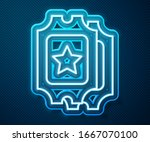 glowing neon line cinema ticket ... | Shutterstock .eps vector #1667070100