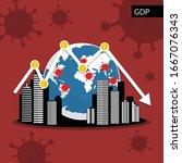 global gross domestic product ... | Shutterstock .eps vector #1667076343