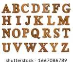 Wooden Letters A English...