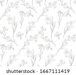vector hand drawn line drawing... | Shutterstock .eps vector #1667111419