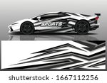 sports car wrapping decal design   Shutterstock .eps vector #1667112256