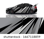sports car wrapping decal design   Shutterstock .eps vector #1667118859