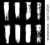 set of grunge brush strokes.... | Shutterstock . vector #166712024