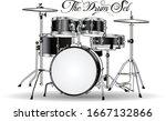 Black   White Artistic Drum Kit ...