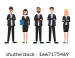business people teamwork ... | Shutterstock .eps vector #1667175469