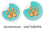 love pet stickers isolated on...   Shutterstock .eps vector #1667188396