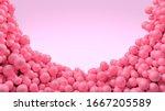 Pink Candy Balls Round Frame...