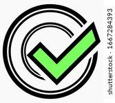 new ok vector icon. flat eco...