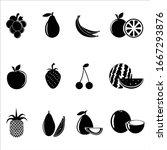 fruits glyph icon set  logo... | Shutterstock .eps vector #1667293876