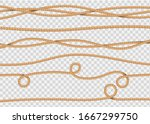 rope decor. realistic jute... | Shutterstock .eps vector #1667299750