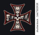 vector biker s cross  isolated... | Shutterstock .eps vector #1667305939