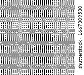 abstract monochrome geometric... | Shutterstock .eps vector #1667309530