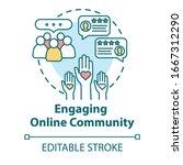 engaging online community... | Shutterstock .eps vector #1667312290