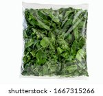 Spinach Salad In Plastic Bag....
