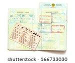 kazakhstan passport documents | Shutterstock . vector #166733030