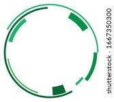 geometric circle. sci fi  high...