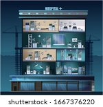 the building of the hospital....   Shutterstock .eps vector #1667376220