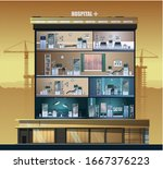 the building of the hospital....   Shutterstock .eps vector #1667376223
