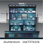 the building of the hospital....   Shutterstock .eps vector #1667376226