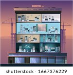 the building of the hospital....   Shutterstock .eps vector #1667376229