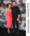 Small photo of LOS ANGELES - FEB 25: Toni Trucks and A.J. Buckley arrives for �'Seal Team' Winter Premiere on February 25, 2020 in Hollywood, CA