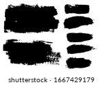 vector brush stroke. grunge... | Shutterstock .eps vector #1667429179
