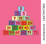 Prime Numbers On Pink Backgound.