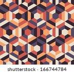 seamless geometric pattern... | Shutterstock .eps vector #166744784