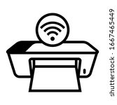 wireless printer icon with...