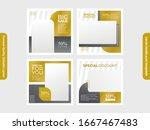 social media post template.... | Shutterstock .eps vector #1667467483
