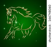 vector sketch drawing of horse... | Shutterstock .eps vector #166748060