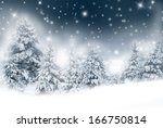 frozen winter landscape with... | Shutterstock . vector #166750814