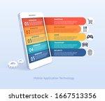 mobile application technology... | Shutterstock .eps vector #1667513356