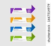 arrow design elements with 4... | Shutterstock .eps vector #1667514979