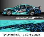 car decal design vector....   Shutterstock .eps vector #1667518036
