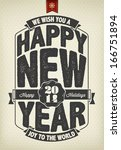 vintage new year  background... | Shutterstock .eps vector #166751894
