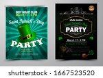 st. patrick s day poster set... | Shutterstock .eps vector #1667523520