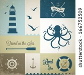 nautical labels set | Shutterstock .eps vector #166752509
